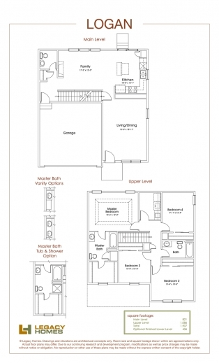 Stunning Legacy Homes Floor Plans Omaha Redmond Floorplan Legacy Homes Images