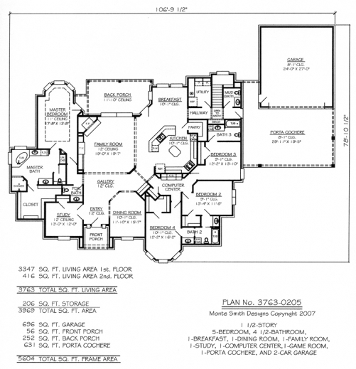 Stylish 1000 Images About Houseplans On Pinterest 5 Bedroom House Plans 2 Story Photos