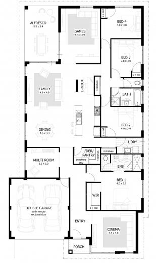 Stylish 4 Bedroom House Plans Amp Home Designs Celebration Homes Four Bedroom Floor Plan Pics