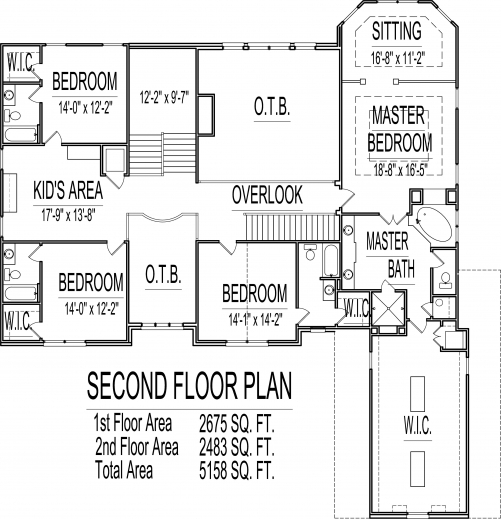 Stylish 5000 sq ft house floor plans 5 bedroom 2 story for 2 5 story house plans