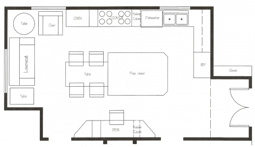 Stylish Kitchen Floor Plans Kitchen Renovation Wara Kitchen Floor Plans Pic