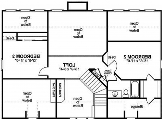 Wonderful 2 Bedroom Bath Car Garage House Plans Arts Simple House Plan With  3 Bedrooms Pictures