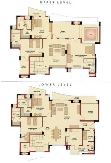 Gorgeous 5 bedroom floor plans 5 bedroom bungalow house for 4 bedroom house designs in nigeria