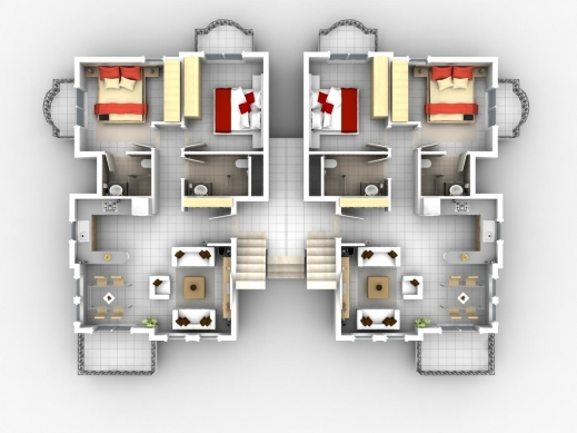 Wonderful House Plans Apartment Floor Plans And Architecture On Pinterest 3D Apartment & House Plan Images