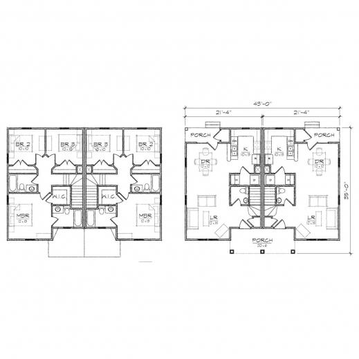 Wonderful Maple Duplex Queen Anne Floor Plan Tightlines Designs Duplex Floor Plan Photo