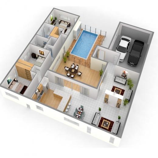 Wonderful Plans Lifestyle Building Solutions Building Plans 4 Bedroom House 3d Photos