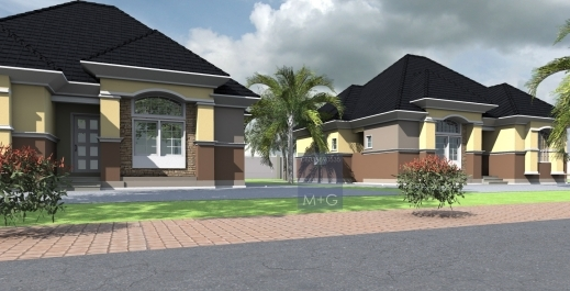 Pictures of nigerian 3 bedroom bungalow house plan house for Amazing bungalow designs