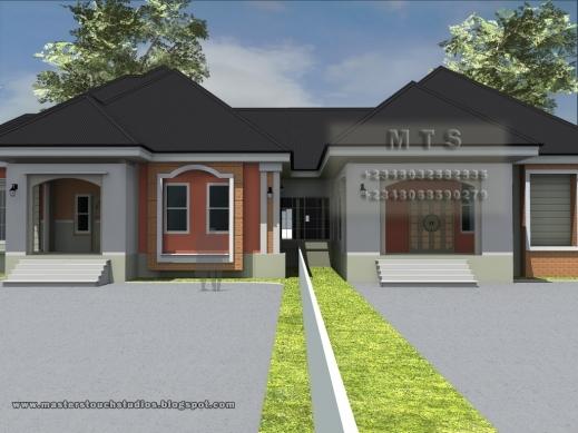 Amazing 3 Bedroom Plans In Nigeria Floor For Bungalow Houses Residential House Designs Floor Plans Nigeria Pic