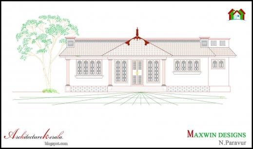 Amazing 3 Bhk Single Floor Kerala House Plan And Elevation Architecture Single Floor 3 Bedroom House Plan Kerala Image