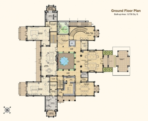 Amazing 4500 Sq Ft 6 Bhk 7t Villa For Sale In Gaursons Mulberry Mansions 6 Bhk Mansion Floor Plans Photos
