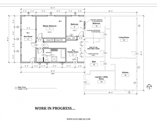 Auto cad 2d house plans with dimensions house floor plans for Home addition building plans