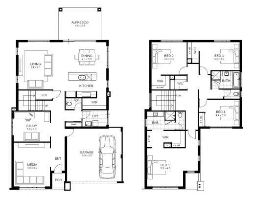 Amazing Double Story House Floor Plans Design Ideas Amazing Simple Lcxzz Double Storey Floor Plans Image