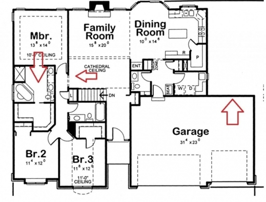 Amazing Hot House Plans With 4 Bedrooms Together With 2519 10114 Room Four Rooms House Plans Photo