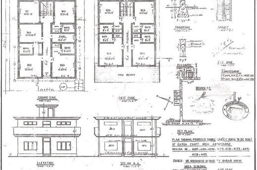 Plan Vs Elevation And Section : Architecture home plan elevation section house floor plans