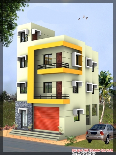 Amazing Latest 3 Storey House Design At 1890 Sqft 3story House Plan & Elevation Pic
