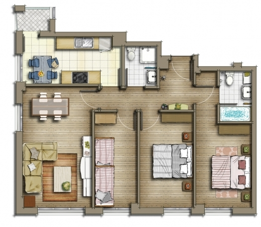 Amazing Subzero Animation Private Residential House 2d Floor Plans House Floor Plan In 2D Pic
