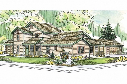 Amazing This Duplex Plan Fits On A Corner Lot Associated Designs House Plans For Corner Houses Images
