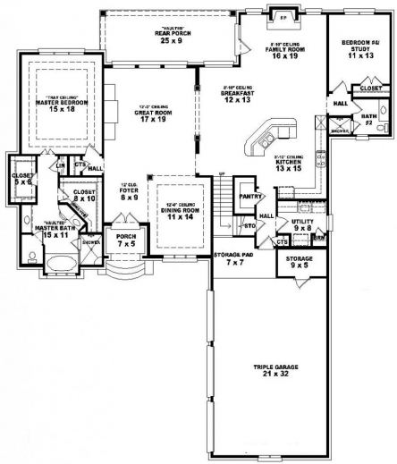 Awesome 3 Bedroom Single Floor House Plans Best Story One De Planskill Simple 3 Bedroom House Plans Single Floor Image