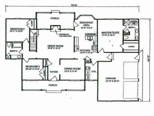 Stunning simple 4 bedroom house plans planskill four for Four bedroom house plans with basement