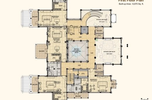 Awesome 4500 Sq Ft 6 Bhk 7t Villa For Sale In Gaursons Mulberry Mansions 6 Bhk Mansion Floor Plans Image