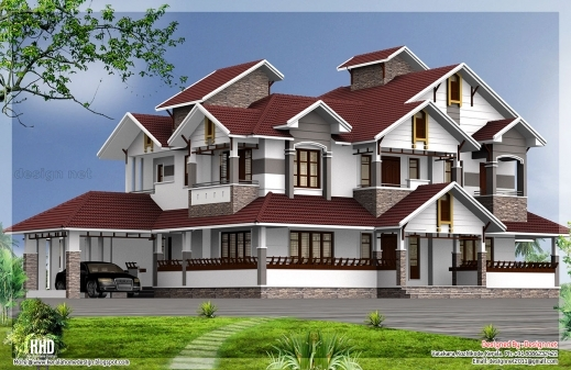 Awesome 6 Bedroom Luxury House Design Kerala House Design Idea 6 Bhk Mansion Floor Plans Image