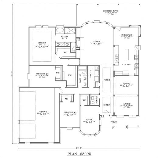 Simple 3 Bedroom House Plans Single Floor House Floor Plans