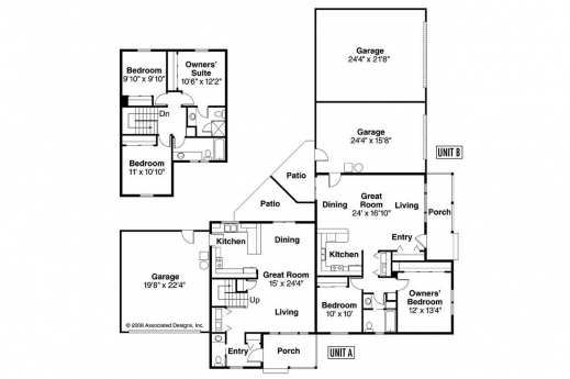 Awesome modern corner lot floor plans slyfelinos house for Corner house plans