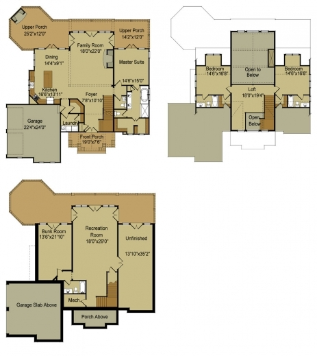 Awesome Rustic Mountain House Floor Plan With Walkout Basement House Basement Plans Images