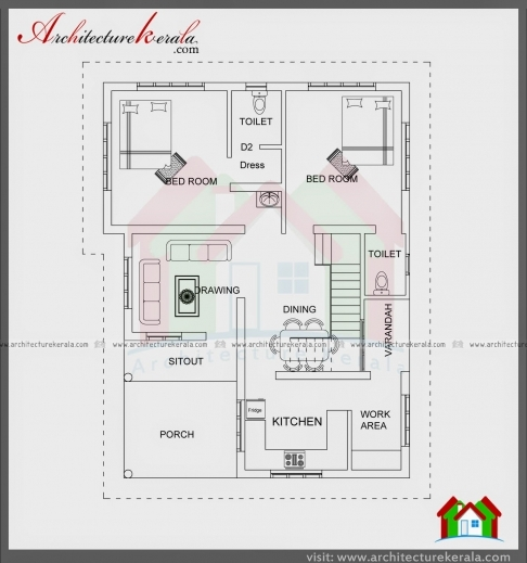 Best 1000 Sqft Single Storied House Plan And Elevation Architecture 1000Sqft House Plan Image Photo