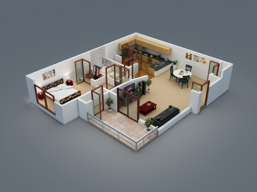 Best 17 Best Images About Architecture 3d Floor Plan On Pinterest 2 Floor 3D House Design Plan Photo
