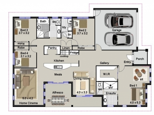 Best House Plans With Bedrooms Make A Photo Gallery 4 Bedroom House House Plans 4 Bed Rooms Pictures