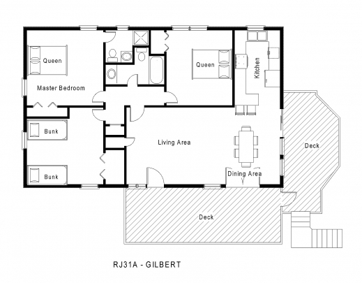 Small house design and one floor plan spaces house floor for Single story cottage house plans