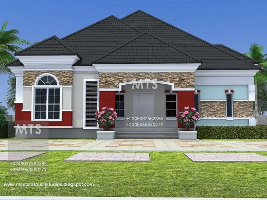 Amazing residential homes and public designs 3 bedroom for 3 bedroom bungalow house designs