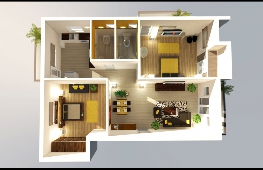 Fantastic 1000 Images About 2d Amp 3d Floor Designs On Pinterest Kenzo 2 Bedroom 3d Floor Plan Photos