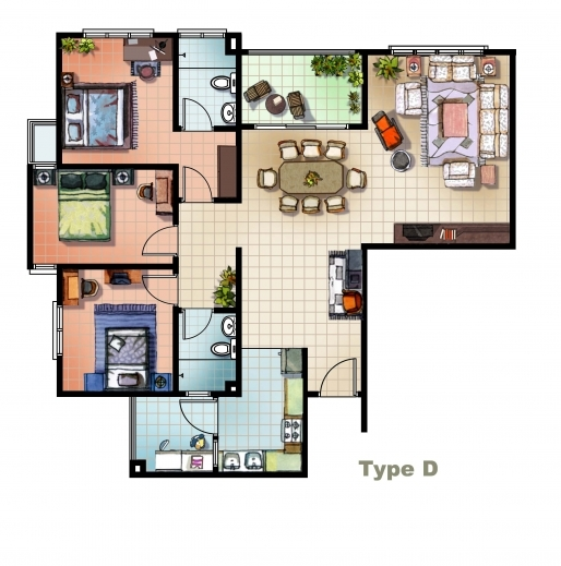 Fantastic 2d Home Design Free Floor Plans For Estate Agents Pin 2d Colored 2d House Plans In Autocad Images