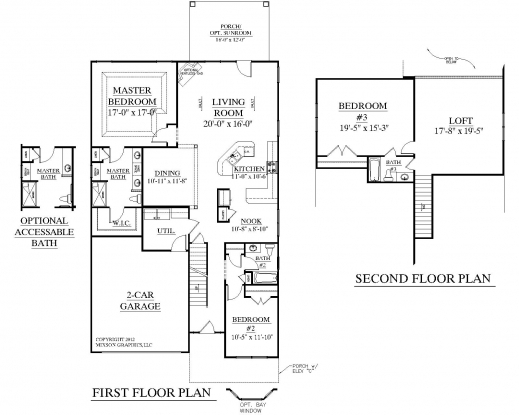Fantastic 3 Bedroom One Story House Plans Open Plan 3 Bedrooms Photos