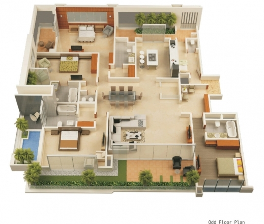 Fantastic 3d floor plan design interactive designer for Interactive house plans