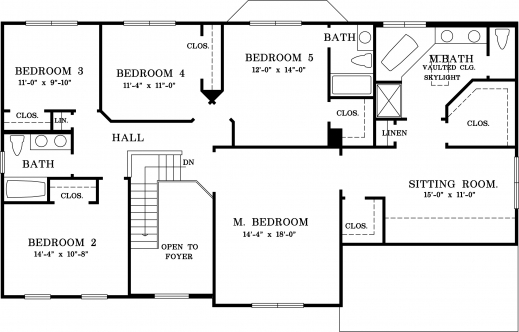 Fantastic A 5 Bedroom Floor Plans Shoise Five Bedroom Building Plan Picture
