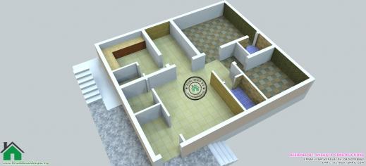 Fantastic Apartment Designs Shown With Rendered 3d Floor Plans 25 More 3 2 Floor 3D House Design Plan Image