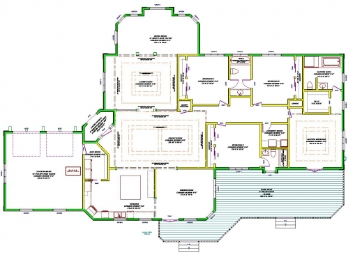 Fantastic Home Decor Durangoranch Plan3br 4 Story House Plans Single Floor Single Story Modern House Floor Plans Image