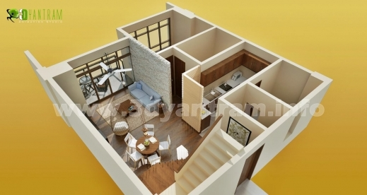 Fantastic Small House Room Floor Plan Design Interactive 3d Floor 2 Floor 3D House Design Plan Picture