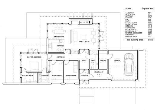 Fantastic Small One Story Contemporary House Plans Plans Single Story Modern House Floor Plans Photos