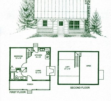 Floor Plan Small Wooden Cottage - House Floor Plans