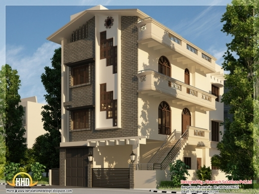 Fascinating 3 Beautiful Modern Home Elevations Keralahousedesigns 3story House Plan & Elevation Photos