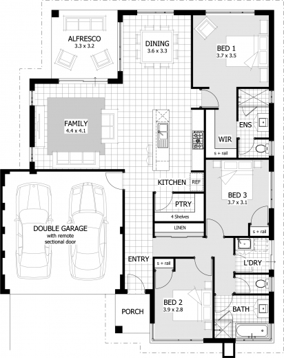 Fascinating Brilliant 653887 3 Bedroom 2 Bath Split Floor Plan House Plans 3 Bedroom House Plans Pictures