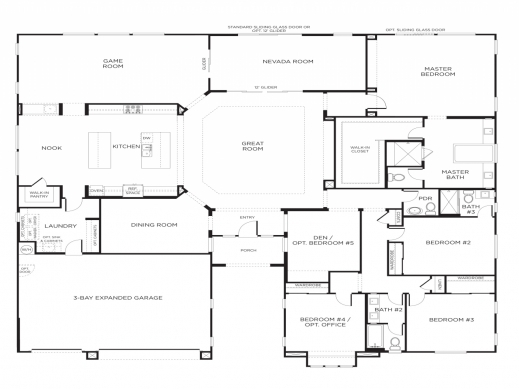 Fascinating Five Bedroom Floor Plans House Plans With Courtyards Kitchen Five Bedroom Building Plan Image