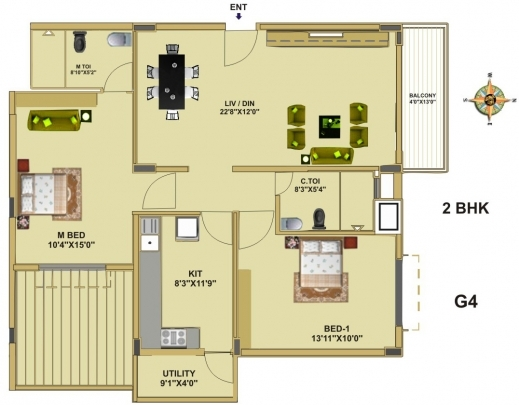 Fascinating Floor Plan Fort House Near Hebbal Lake Bangalore Thipparti G 2 Residential Building Floor Plan Pictures