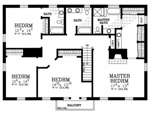 Fascinating Floor Plans For 4 Bedroom Homes Modern Rooms Colorful Design Modern 4 Bedroom Floor Plans Pictures