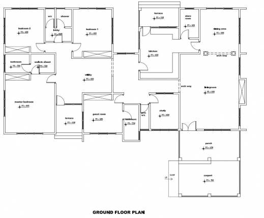 Fascinating Ground Floor Plan Of A House Decoration Ideas