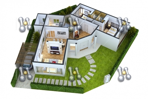 Gorgeous 2 Bedroom House Plans 3d Google Search Townhouse Pinterest 2bedroom House Floor Plan In 3D Image